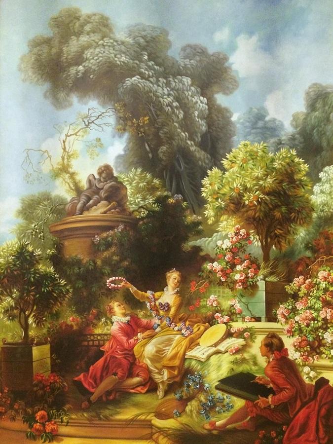 The Lover Crowned-Jean-Honoré-par-Jean-Baptiste-Gouraud