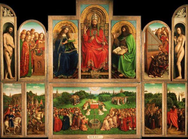 L'influence de Jan van Eyck sur la peinture à l'huile : exemple du Retable de Gand