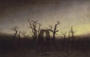 Abbaye dans une forêt de chênes
