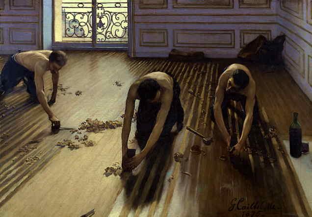 Les raboteurs de parquet de Gustave Caillebotte (1848 – 1894)