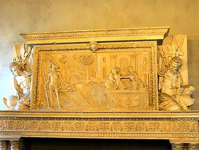 Hugues Lallement, Diane surprise au bain par Actéon, château d'Écouen